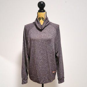 Roxy Turtle Neck Long Sleeve Top in Grey Size M